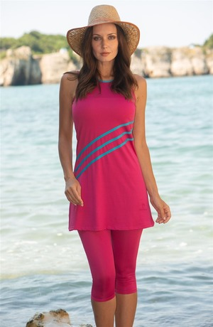 Covered Swimsuit-Fuchsia 1807-43
