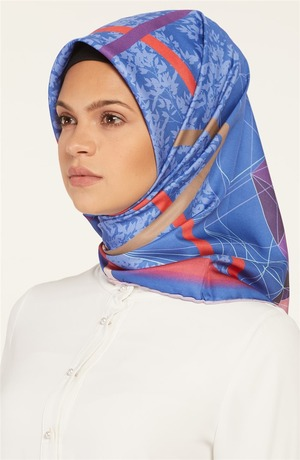 Dual Twil Scarf-Red-Blue SP-19Y-20191-3470