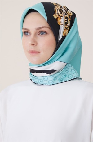 Scarf-Water Green Black 16920-6901