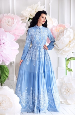 Blue Dream Hijab Dress-Blue 180126-70