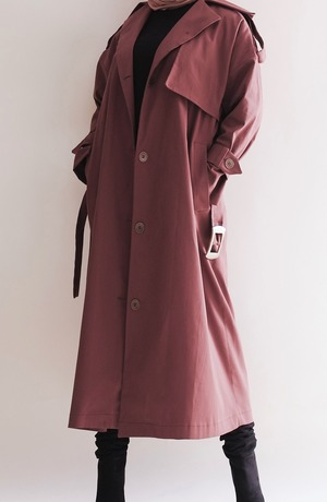 Modest Catwalk coupon: Brown Flamboyant Modest Trenchcoat