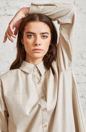 Modest Catwalk coupon: Dany Modest Beige Wool Shirts